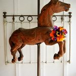 Carousel Horse on Porch