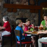 Family-friendly menu with a cozy sports atmosphere