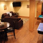 The larger homes may have completed rec rooms in the basement featuring pool tables & theatre ro