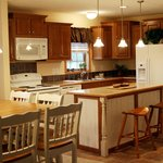 Fully stocked kitchens make it easy to vacation