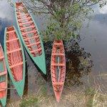 Barcos do lodge para os passeios