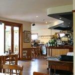 Cafe interior.