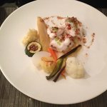 Sole with a quartet of vegetables