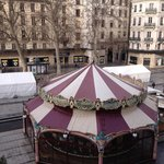 Carousel seen from room