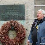 Nigel at the memorial in Stauffenbergstrasse