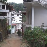 Look on the guest house from uphill