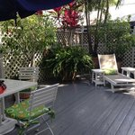 Great patio off Jungle Room