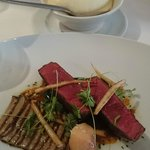 Rangers Valley Black Angus beef fillet, portabello mushrooms, garlic parsley puree & tarragon ju