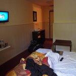 Notre chambre dans l'hôtel en rez de jardin
