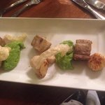 Scollops and belly pork. Delicious