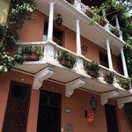hotel exterior: nice balconies!