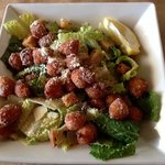 Ceasar Salad with Fried Scallops
