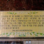 The Ethos of Museo Dolores Olmedo Patiño spelled out in this plaque at the entrance