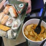 sushi e tofu noodles