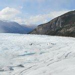 No Centro do Glacial Perito Moreno