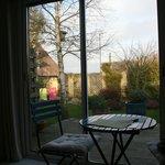 Vue de la chambre vers le jardin