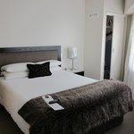 suite - bedroom with cramped corner closet