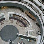 Vista del lobby desde las alturas