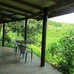 Guest cottage porch