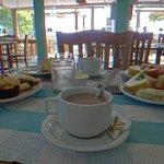 desayuno con vista al mar
