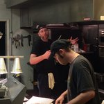 Aaron, the owner, busy in the kitchen on a very busy Friday night. Word of mouth is spreading. P