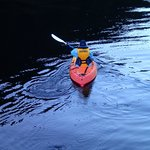 Kayaking from the boat