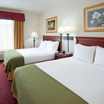 Our hotel features two queen rooms, ideal for family travelers