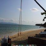 Die Strandbar und die Schaukel
