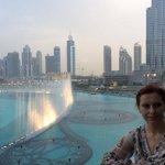 с балкона ресторана Дубай молл центра