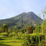 Arenal Volcano our front porch view room 214