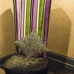 Funky furniture adorns the lobby area (and rooms)
