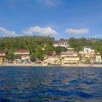 Panoramic view of the resort
