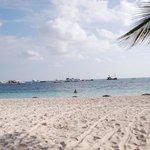 Wunderschöner Strand vorm Hotels