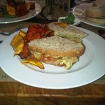 Yummy vegan sandwich at La Gringa