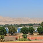 View from the roof to Hatshepsut