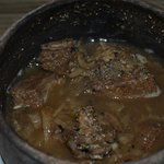 Camel meat dish served with cous cous or rice