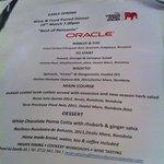 fabulous bespoke menu