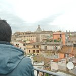 View of Rome from the roof-top