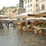 Farmer's market at Campo De'Fiori square