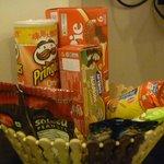 Snack basket in room