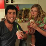 Ice cream parlor grand opening
