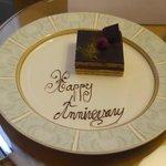 Anniversary cake in room