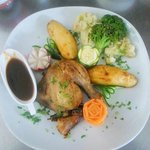 Roast Chicken at Coco's Restaurant Pafos