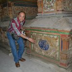 Our excellent guide Massimo Explaining In Mohammad Ali's family tomb