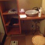 room before bath/shower