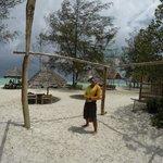 the beach area