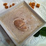 Creamy Soup of Porcini and Chanterelle Mushrooms