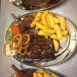 """Man v Food Big Ugly Steak Monthly Challenge. 48oz """"3lb"""" of 100% British Beef"""