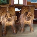 carved elephant chairs