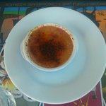 La crème brûlée à la framboise